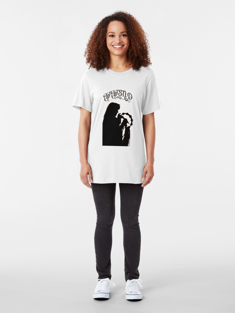 Alternate view of WWSND - What Would Stevie Nicks Do Slim Fit T-Shirt