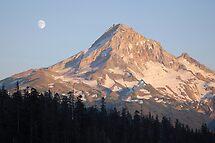 Moonrise over Mt. Hood, Oregon by Bob Hortman