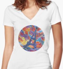 Eiffel's tower painting - 2014 Women's Fitted V-Neck T-Shirt