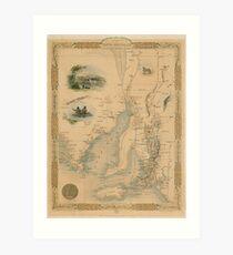 Part of South Australia, 1851 Art Print