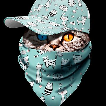 Cool Funny Gangster Cat with Cute Cats Cappi and Bandana by proeinstein