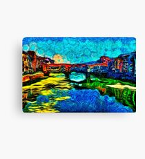 Arno River Florence Italy Fine Art Print Canvas Print
