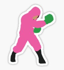 Little Mac Pink Hoodie  Sticker
