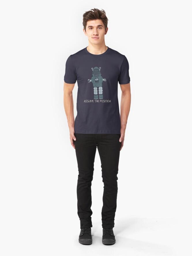 Alternate view of Assume the Position Slim Fit T-Shirt