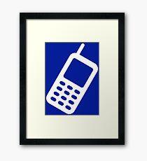 CELL PHONE-3 Framed Print