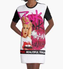 Rosa Schönheit T-Shirt Kleid