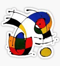 In The Style of Joan Miro Sticker