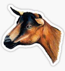 Oberhasli Goat Head T-Shirt Sticker