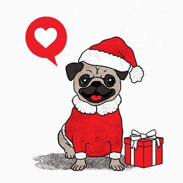 Christmas pug gift by LikeAPig