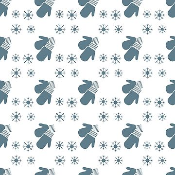 Christmas New Year 2019 backdrop Mittens snowflake by aquamarine-p