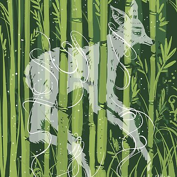 Deer Ghost in Bamboo Forest by lyle23