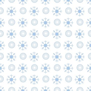 Winter seamless pattern with  snowflakes, circles. by aquamarine-p