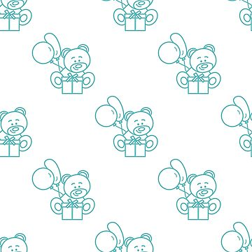 Seamless pattern with children's toys. by aquamarine-p