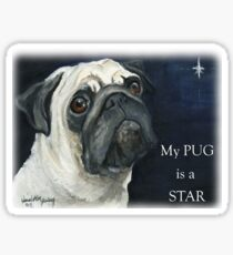 My Pug is a Star T-shirt Sticker