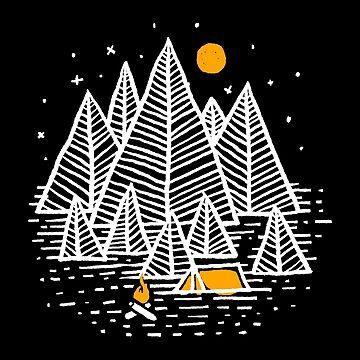 Happy Camper (Dark Color) by quilimostock