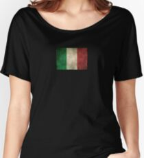 Old and Worn Distressed Vintage Flag of Italy Women's Relaxed Fit T-Shirt