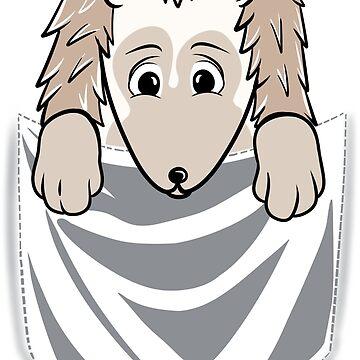 Hedgehog Cartoon Pocket Graphic by ilovepaws