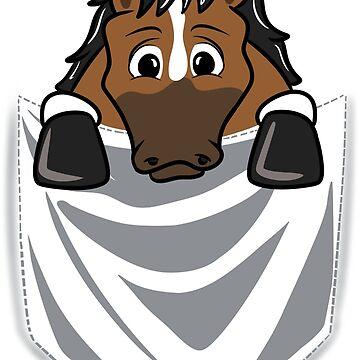 Horse Cartoon Pocket Graphic by ilovepaws