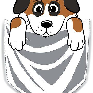 Saint Bernard Cartoon Pocket Graphic by ilovepaws