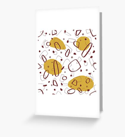 Doodle Pattern 02 #redbubble #doodle #pattern Greeting Card