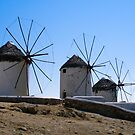 The Windmills of Mykonos by Michael D'Andrea Diaz