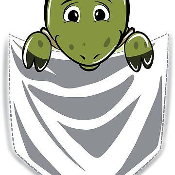 Tortoise Cartoon Pocket Graphic by ilovepaws
