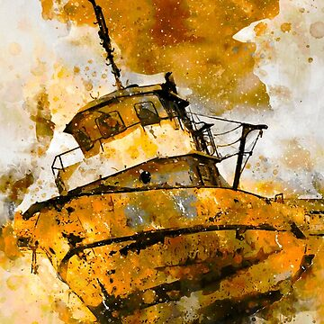 Golden Boat  by NoraMohammed