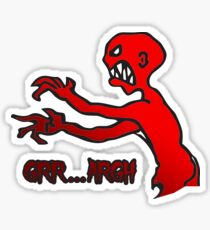 Grr Argh, Monster, Buffy the Vampire Slayer, Mutant Enemy, 90s, BTVS, Zombie, Joss Whedon, Angel, Buffering, Pop Culture, Zombie Sticker