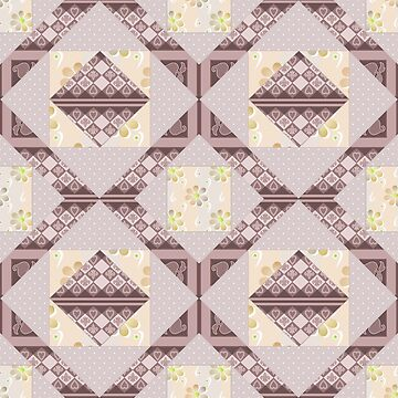 Patchwork seamless floral pattern texture background with decorative element by fuzzyfox