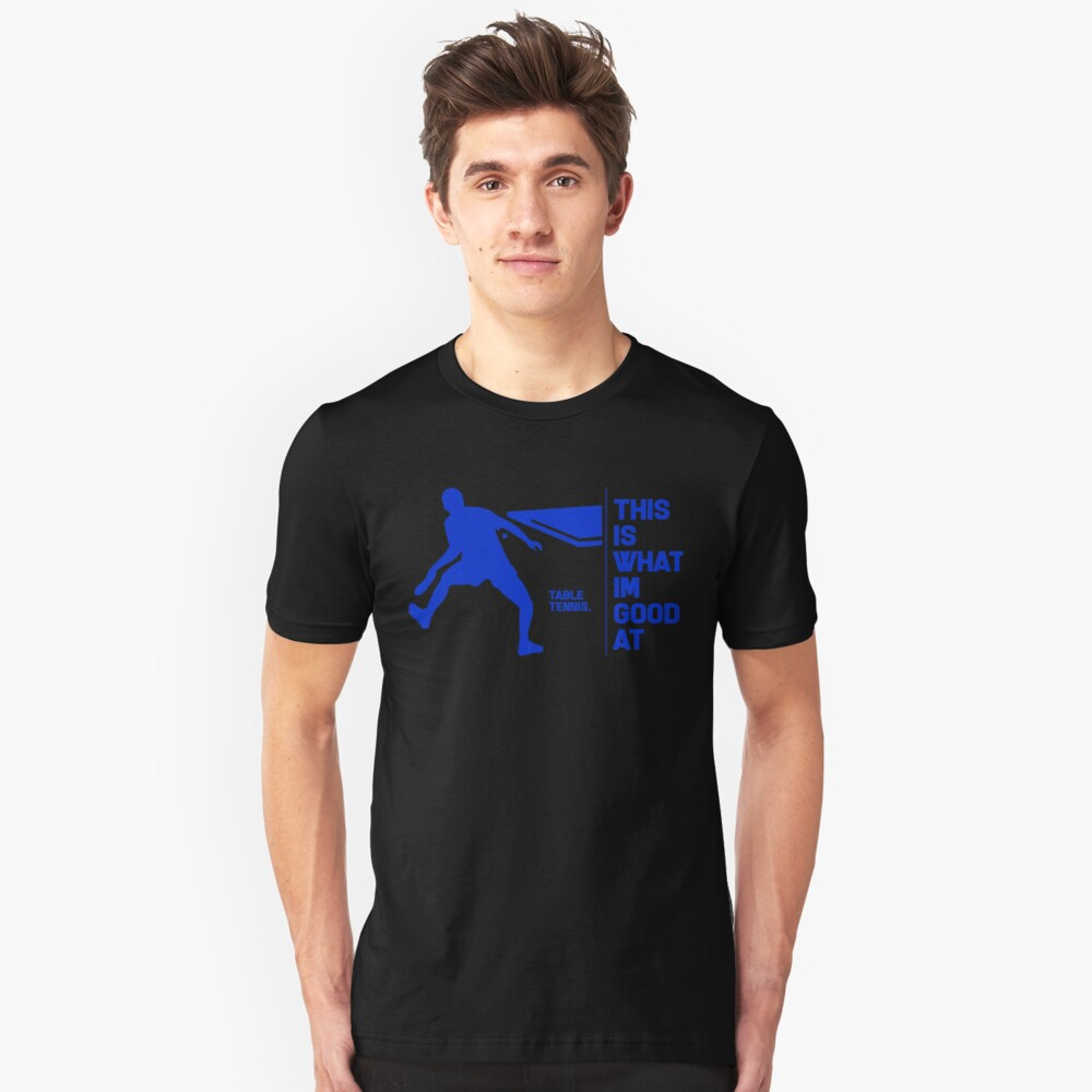 Table tennis Ping-pong player tennis player gift Unisex T-Shirt Front