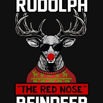 Christmas Reindeer Red Nose Agend Rudoph by yoddel