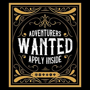 Adventurers Wanted Tabletop RPG Addict by pixeptional