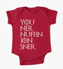 jon snow ners nuffin One Piece - Short Sleeve