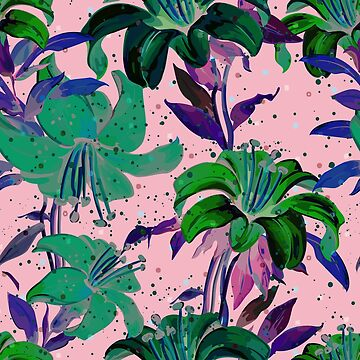 Beautiful Tropical Floral Print Design by andreirose
