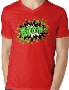 COMIC BOOM, Speech Bubble, Comic Book Explosion, Cartoon Mens V-Neck T-Shirt