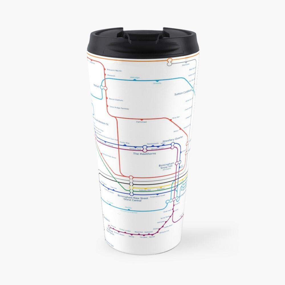 West Midlands Tube Map (centred on Wolverhampton) Travel Mug