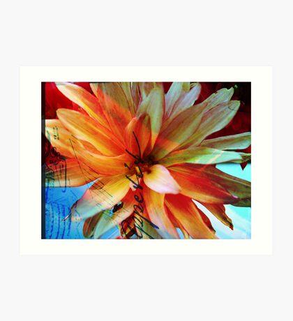 Be My Begonia! Art Print