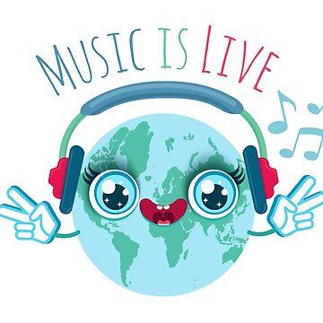Earth hear music in headphones by SIR13