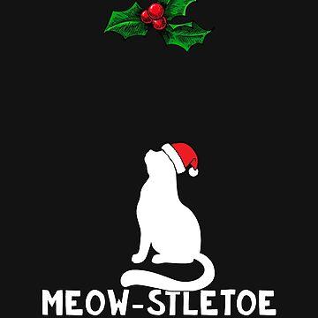 Christmas Cat Kitty Mistletoe Meow Kitten Pet Gift by yoddel