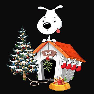 Christmas Dog Doggie Pet Animal Present Bones Gift by yoddel