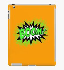 COMIC BOOM, Speech Bubble, Comic Book Explosion, Cartoon iPad Case/Skin
