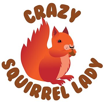Crazy (RED) Squirrel lady in a circle by jazzydevil