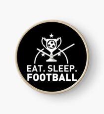 Eat. Sleep. Football. T-shirt Clock