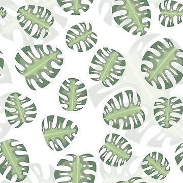 Monstera Leaves Seamless Pattern by madeciyuu