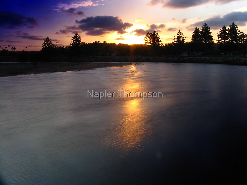 Narrabeen Sunset by Napier Thompson