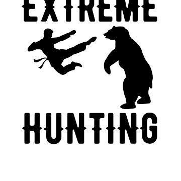 Extreme hunting - Karate vs bear by goodtogotees