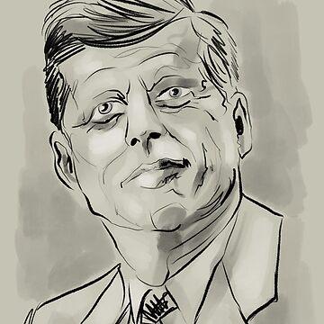 John F Kennedy portrait by Extreme-Fantasy