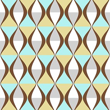 Retro style geometric lines, curves pattern by cool-shirts