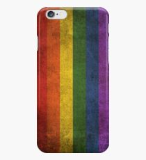 Old and Worn Distressed Vintage Gay Pride Rainbow Flag iPhone 6s Case