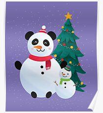 Panda Snowman - Christmas Season Poster